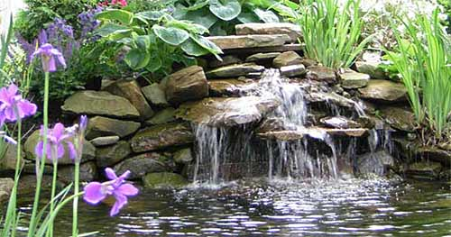 Waterfall Landscape Design Ideas pool waterfall landscaping Professionally Planned Hardscape