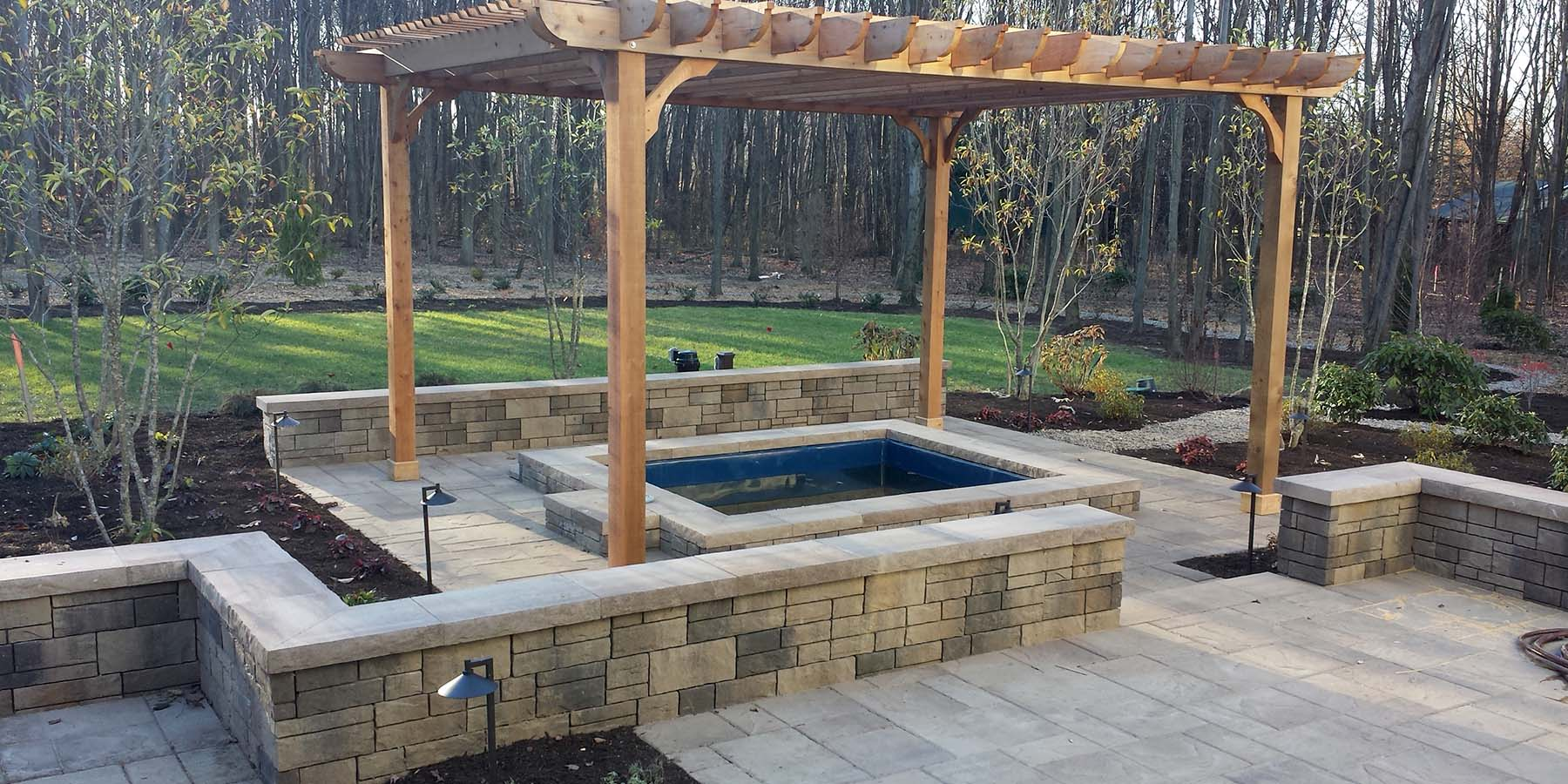 pavers retaining walls and stones hemlock landscapes